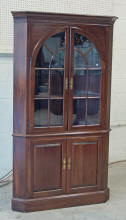Solid Cherry Lighted Corner Cabinet By Ethan Allen Furn Co