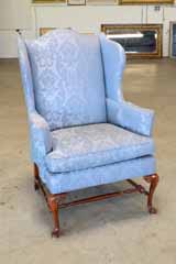 Queen Anne Style Wing Chair By: Hickory Chair Company